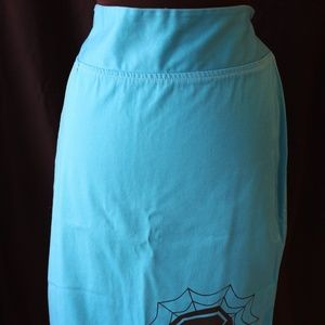 Teal Pencil Skirt Coffin Design Dressed to Kill XL